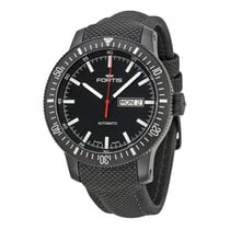 Fortis Monolith Automatic Black Dial Black Leather Men's...