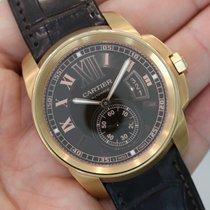 Cartier Calibre De Cartier 18k Rose Gold Chocolate Brown Dial...