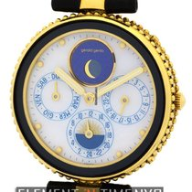 Gérald Genta Gefica Moonphase Day-Date Alarm GMT 18k Yellow...
