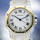Cartier Santos, 18K & SS Mid-Sized Automatic w/Date