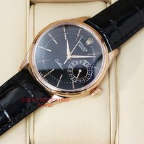 Rolex Cellini Date Rose Gold Black Dial NEW MODEL 50515