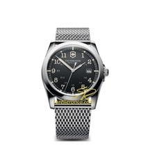 Victorinox Swiss Army Infantry dark grey dial, steel mesh...