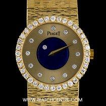 Piaget Rare 18k Yellow Gold Lapis Lazuli Dia Set Mystery 9705 A6