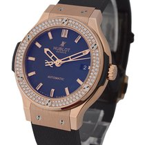 Hublot Classic Fusion 38mm in Rose Gold with Diamond Bezel