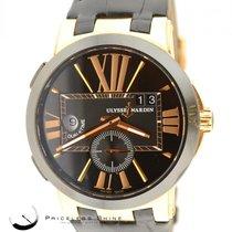 Ulysse Nardin Executive Dual Time 18k Rose Gold Ref. 246-00 W/...