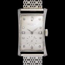 Patek Philippe 1593 Hour Glass In Platinum Case & White...