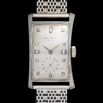 Patek Philippe 1593 Hour Glass In Platinum Case & White...