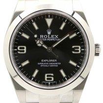 Rolex Explorer I 214270 Men's 39mm Black Stainless Steel...