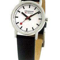 Mondaine Ladies Classic - Brushed  Steel - Classic White Dial...