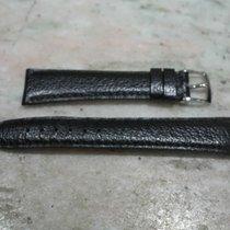Bulgari vintage strap leather black mm 18 and original steel...
