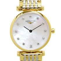 Longines La Grande 18k Gold Steel White Quartz L4.209.2.87.7