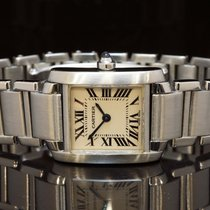 Cartier Ladies Tank Francaise, Stainless Steel, Boxed, W51008Q3