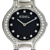 Ebel Beluga Mini Steel & Diamond Womens Watch Black Dial...