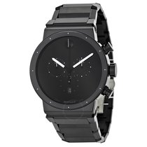 Movado Sapphire Synergy Black Dial Men's Watch
