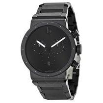 Movado Sapphire Synergy Black Dial Men's Watch