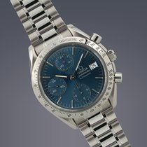 Omega Speedmaster date stainless steel automatic chronograph...