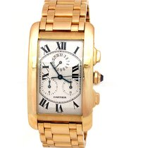 Cartier Pre-owned 45mm Cartier 18k Yellow Gold Tank Francaise...