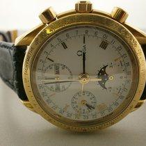 Omega 18kt Omega Speedmaster Triple Date Moonphase Chronograph...