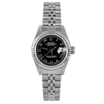 Rolex ladies 69174 Datejust - Black Roman Numeral Dial