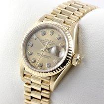 Rolex LADY DATEJUST GELBGOLD 750 DIAMANTEN DAMENUHR