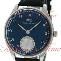 IWC Portuguese Hand Wound 44mm, Black Dial - Stainless Steel...
