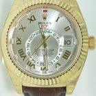 Rolex Sky-Dweller Yellow Gold,Leather Strap,Unworn condition