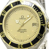 Omega Polished Omega Seamaster Professional 18k Gold Steel...
