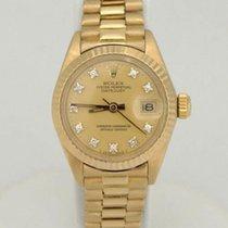 Rolex Ladies Rolex Datejust President 1980 18k Yellow Gold...