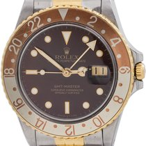"""Rolex 2 Tone """"Root Beer"""" GMT ref 16753 SS/18K circa 1986"""