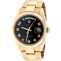 Rolex President Day-Date Rose Gold Black Arabic 36MM Oyster...
