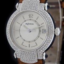 DeLaneau White Gold Evolution Diamond Automatic Watch