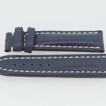 Breitling Kalbslederband 20/20 Länge 95/80 Blau
