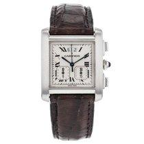 Cartier Tank Francaise Chronograph 2531 Stainless Steel Quartz...