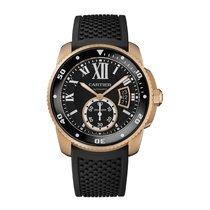Cartier Calibre Diver Mens Diver 18K Pink Gold Automatic Watch...