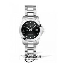 Longines Conquest Black Dial With Diamonds R