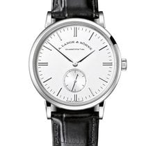 A. Lange & Söhne Saxonia Mens 35mm Manual in White Gold