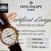 Patek Philippe 3802 Calatrava 18k Rose Gold Mens Watch...
