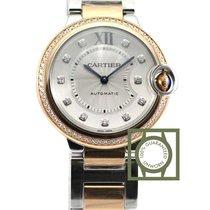 Cartier Ballon Bleu De Cartier 36mm Pink Gold Diamonds NEW