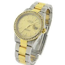 Rolex Used 16203 Mens Datejust 2-Tone with Oyster Bracelet -...