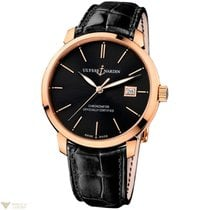 Ulysse Nardin San Marco Classico 18k Rose Gold Leather...