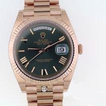 롤렉스 (Rolex) 228235 Day-Date Green Roman Dial Pres Brac Everose