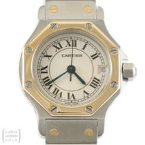 Cartier Uhr Santos Ronde Edelstahl/Gold Lady Revision Ref. 187903