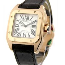 Cartier W20108Y1 Santos 100 in Rose Gold - Small Size - on...