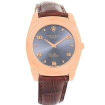 Rolex Cellini Cestello 18k Rose Gold Slate Dial Mens Watch 5330