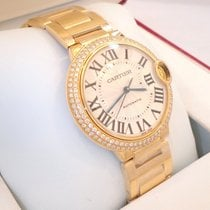 Cartier Ballon Bleu 36mm Midsize We9004z3 18k Y Gold Fact...