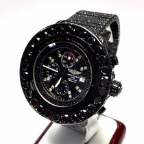 Breitling Colt Mens Watch Black Diamonds 33 Tcw Chronometer...