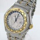 Ebel Voyager Worldtimer Gmt Herren Uhr Automatik Stahl/gold