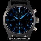 IWC Ceramic Black Dial Ltd Ed US Navy Top Gun Pilot B&P...