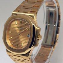 Patek Philippe Nautilus 18k Gold Automatic Mens Watch Box/Pape...