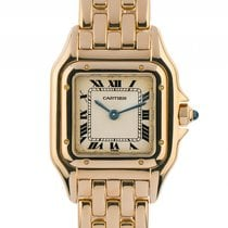 Cartier Panthere PM kleines Modell 18kt Gelbgold Quarz Armband...